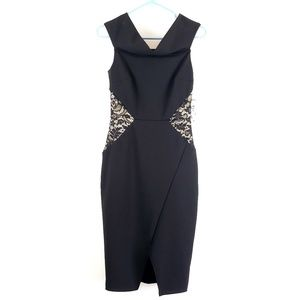 New Bisou Bisou fitted black sleeveless dress
